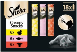 Sheba Creamy Snacks perfekt für jede Katze